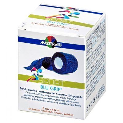 Packung Master Aid BLU GRIP® – elastische Haftfixierbinde in Blau