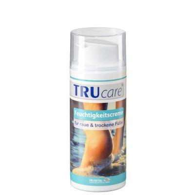 Verpackung der TRU care Feuchtigkeitscreme zur täglichen Fußpflege