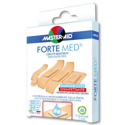 Verpackung Master Aid FORTE MED® Wundpflaster (5 Formate)