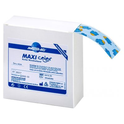Verpackung MAXI color FISCHE Kinder-Wundschnellverband mit Glitzer
