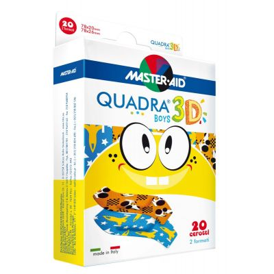 Verpackung Master Aid QUADRA® 3D BOYS – Kinderpflaster