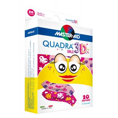 QUADRA® 3D GIRLS – Kinderpflaster (2 Formate)