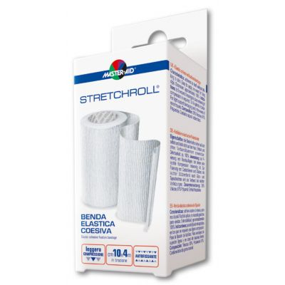 Packung Master Aid STRETCHROLL® – elastische Haftfixierbinde (fein gewebt)