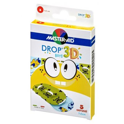 Verpackung Master Aid DROP® 3D BOYS – Kinderpflaster