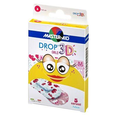 Verpackung Master Aid DROP® 3D GIRLS – Kinderpflaster