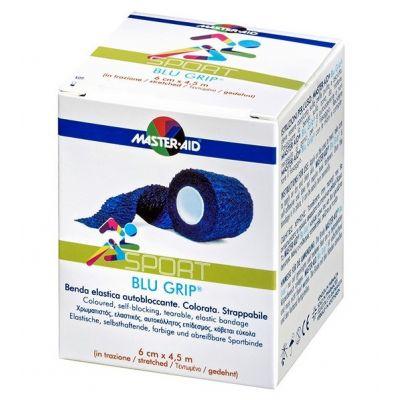 Verpackung Master Aid BLU GRIP – elastische Haftfixierbinde in Blau
