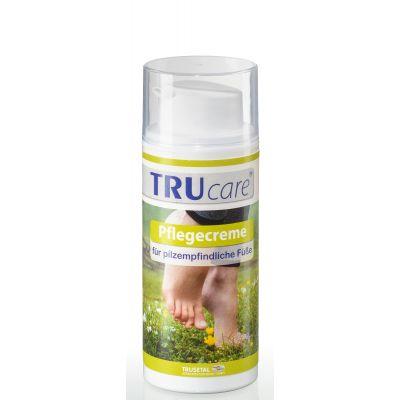 Verpackung Spender der Pflegecreme für pilzempfindliche Füße in grünem Design