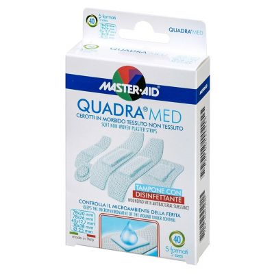 Verpackung Master Aid QUADRA®MED Wundpflaster (5 Formate)