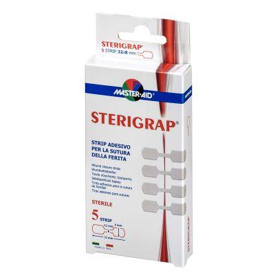 Verpackung Master Aid STERIGRAP® Wundnahtstreifen in Knochenform in der Größe 32mm x 8mm